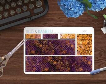 WS3- Halloween Washi sheet, bottom washi sheet, erin condren bottom stickers, halloween stickers, purple washi, erin condren vertical