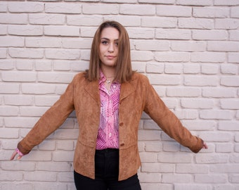 tan suede leather jacket