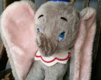 Vintage 1985 Walt Disney's Dumbo 14 inch Plush/Made in the USA/Walt Disney Productions/Collectible Plush/Vintage Nursery Decor