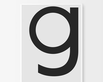 Letter G Wall Art, Letter Printable Decor