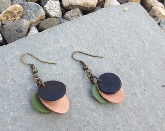 Modern Trendy Clay Earrings