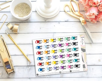 Walk The Dog Stickers || 36 Planner Stickers