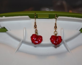 Glass Leaf Earrings