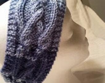Cabled headband, earwarmer