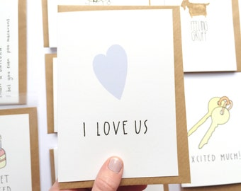 Valentines day card for Husband - Wedding card for Husband  - Card for boyfriend -Wife Valentines day - Anniversary card-Love cards  -