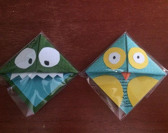 Set of Monster and Owl Bookmarks