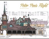 Disneyland - Peter Pan's Flight - Colorized Blueprint