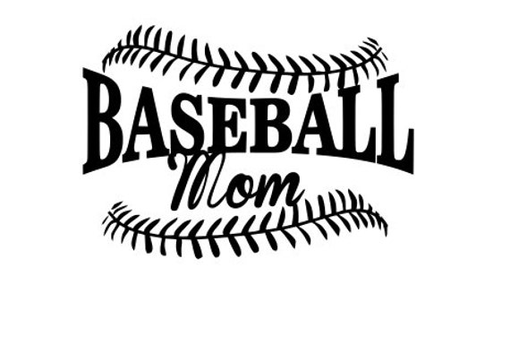 Baseball Mom SVG File.  For Silhouette or Cricut Machines.  For use with HTV, Oracle 631/651, Paper cutter file