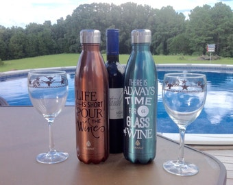 Insulated/Customized Wine or Water Bottle