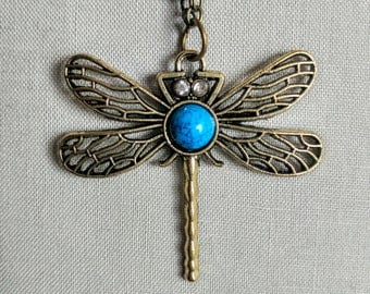 Long Necklace Retro Dragonfly Jewelry