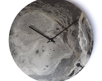 Unique wall clock, silver wall clock, big wall clock, modern wall clock, art clock, wall decor, interior design, unique gift, artwork