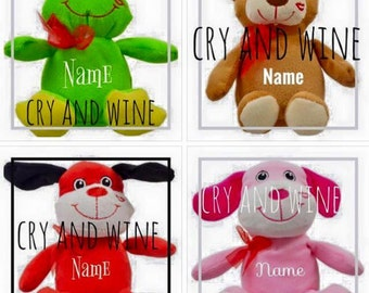 Personalized Valentines Stuffed Animals