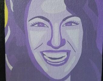 Selena Quintanilla Pop Art Style Portrait