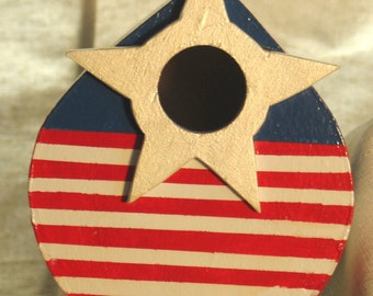 Red, White and Blue birdhouse