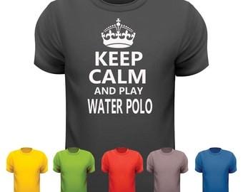 Keep calm & play WATER POLO t shirt
