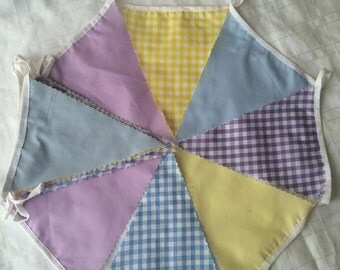 Blue, Purple and Yellow Bunting