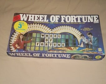 Vintage 1985 Wheel Of Fortune Board Game