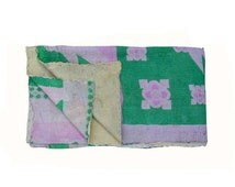 Old Kantha Throws/Quilts vintage kantha quilt handmade quilt kantha throw, coverlet