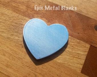 Large Aluminium Heart Stamping Blank, Heart Blank, Jewellery Blanks, Jewelry Blanks, Stamping Blanks, Stamped Metal Blanks, Metal Stamping.