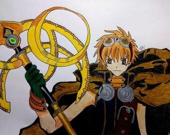 Syaoran Color Sketch - Tsubasa: Reservoir Chronicles