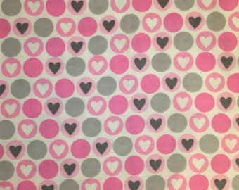 Hearts in Dots Snuggle Flannel Blanket