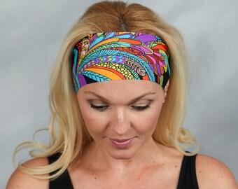 Boho Headband Yoga Headband Fitness Headband Workout Headband Running Headband Fashion Headband Turban Women Head Wrap Wide Headband