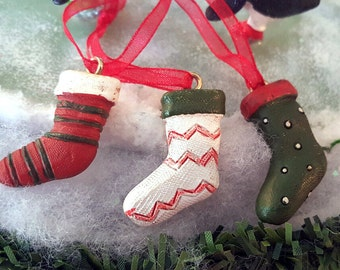 Miniature Christmas Stockings - Set of 3