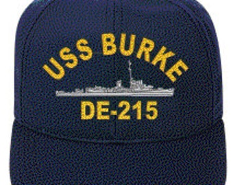 USS BURKE DE-215  Ball Cap   Ne Item
