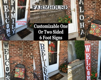 Wood signs, Wooden signs, Outdoor decor, Outdoor wood signs, Outdoor wooden signs, Large wood sign, Large wooden sign, Deck decor, Welcome