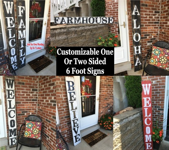 Wood signs wooden signs outdoor decor outdoor wood signs for Outdoor decorative signs