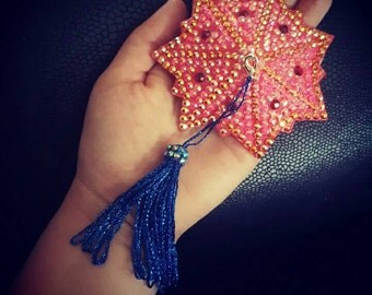 Wonder Woman Inspired Red Gold Blue Spinner Burlesque Pasties Complete with removable Rhinestone Tassels. Nipple Covers