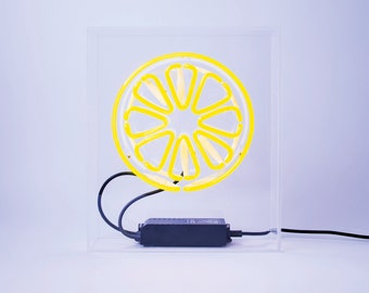 Lemon neon free standing neon light