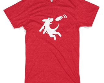 Frisbee Dog Cotton T-Shirt