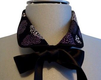 Collar blouse Fusa purple