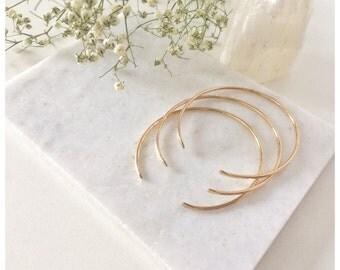 Hammered Stacking Cuff Bracelet, Bangle Bracelet, Cuff Bracelet,Gold Cuff Bracelet ,14k Gold Filled or Sterling Silver