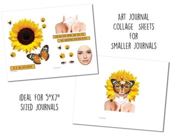 Sml One with Nature - Art Journal Collage Sheets