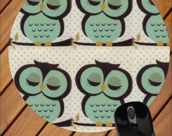 Owl Mouse Pad, Mouse Pad, Mousepad, Computer Mouse Pad