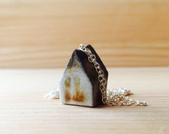 Ceramic Mini House Necklace