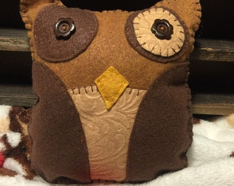 Brown and tan owl
