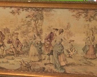 Set of 3 framed Belgian Tapestries