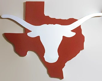 Texas Longhorn State Wall Art Sign; NFl, NBA, NHL, MLB can also be done!