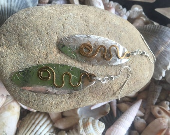 Mixed Metal Earrings,