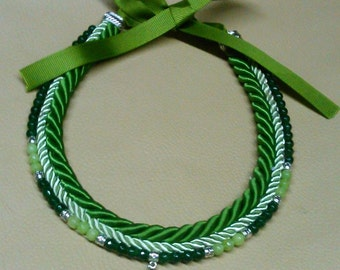 Green Rope Statement necklace