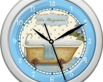 "Tub Time 10 Personalized 10"" Bathroom Wall Clock"