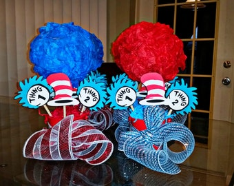 Dr Suess Thing One Thing Two Centerpieces