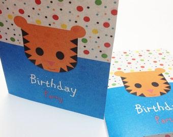Birthday Party Invitation - animals