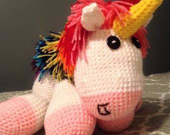 Hand Crochet Unicorn Amigurumi