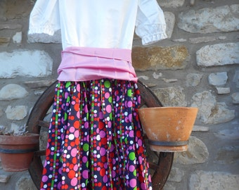 Dress girl country style vintage 1968