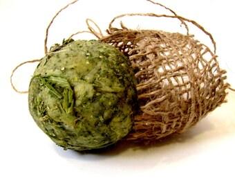 Hemp Soap Scrub with Leaves and Seeds / hemp/ Organic. Handmade Natural Ingredients