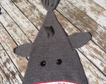 Shark blanket, crochet shark blanket, toddler shark blanket, adult shark blanket, child shark blanket, baby shark blanket
